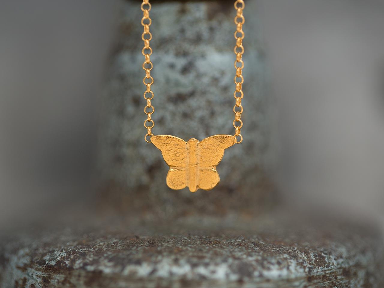 κρεμαστό χρυσή πεταλούδα