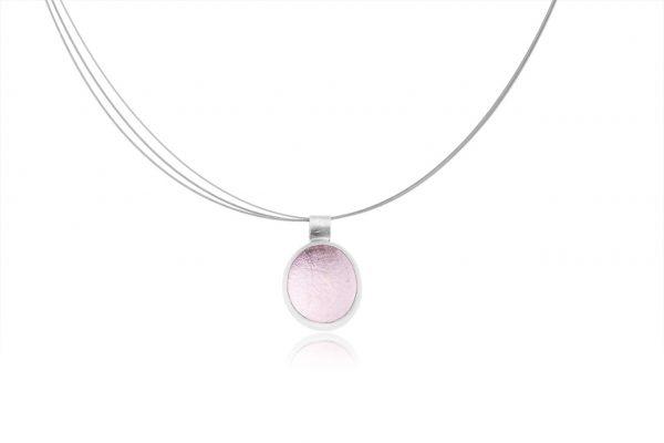 Χειροποίητο Ασημένιο Μικρό Κρεμάστό Ροζ Παστίλια