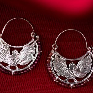 Hand Made Sterling Silver Byzantine Eagles Hoops